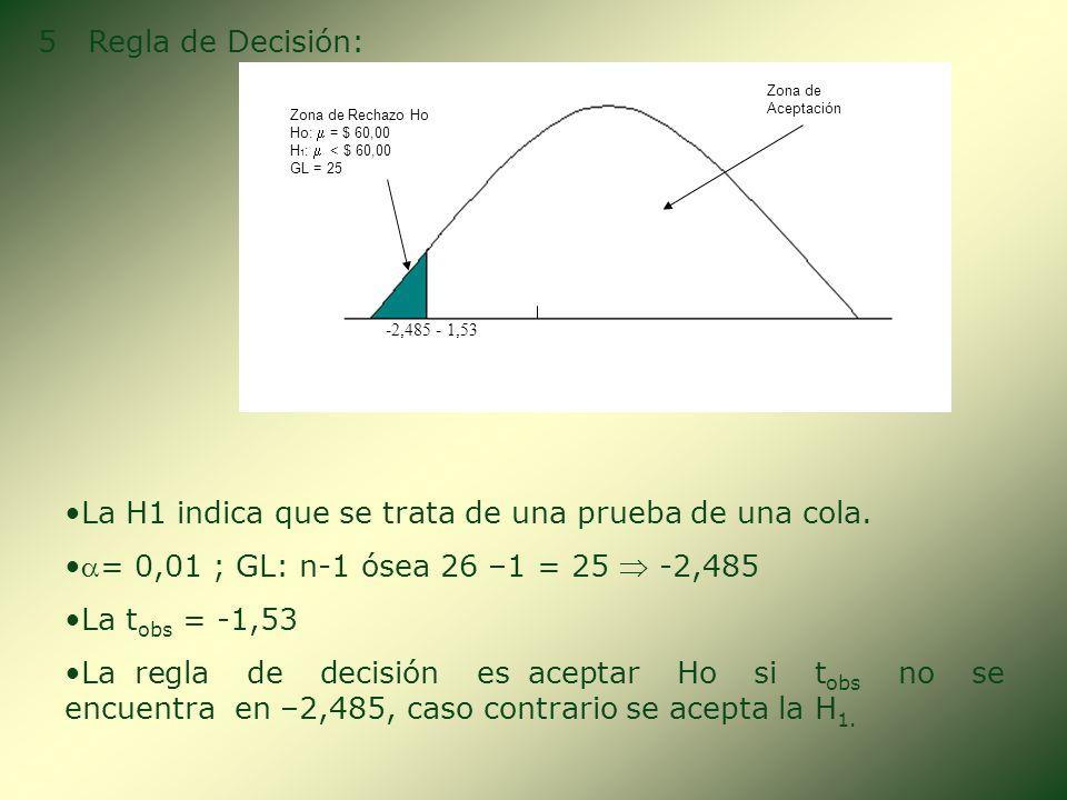 3. Seleccionar el Estadístico de Prueba: 4 Cálculo del Estadístico de Prueba: