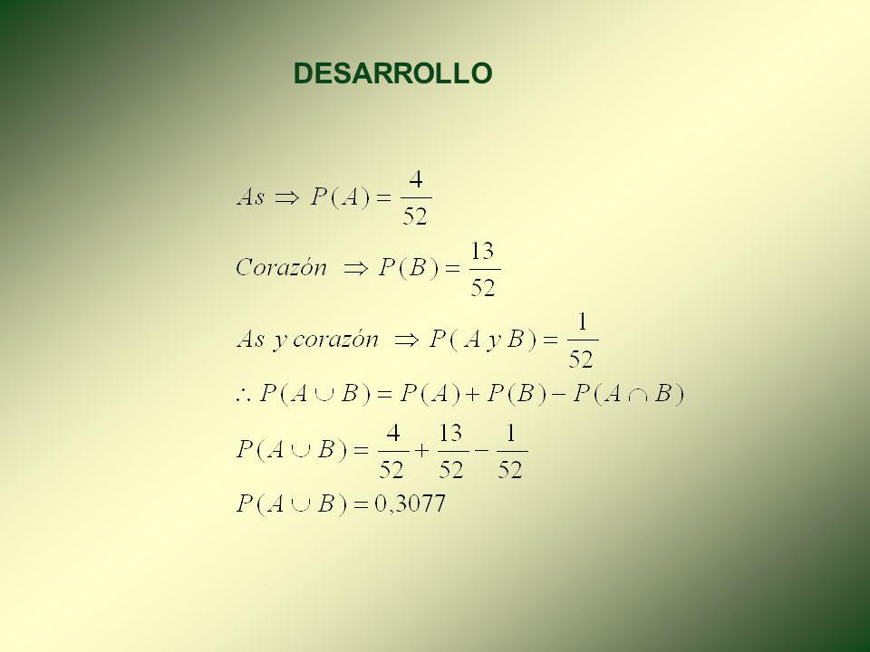 4.2.2. EVENTOS NO EXCLUYENTES. Dos o más eventos no son excluyentes o conjuntos cuando es posible que ocurran ambos. PABPAPBPA y BA y B()()()() EJERCI