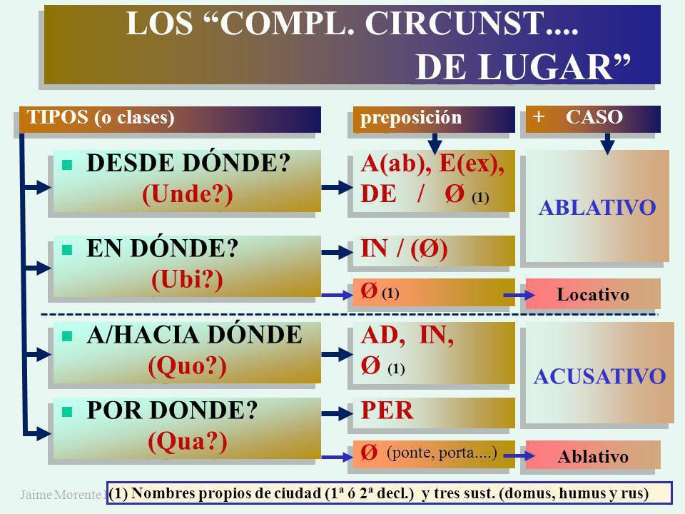 Jaime Morente Heredia LOS COMPL.CIRCUNST.... DE LUGAR LOS COMPL.