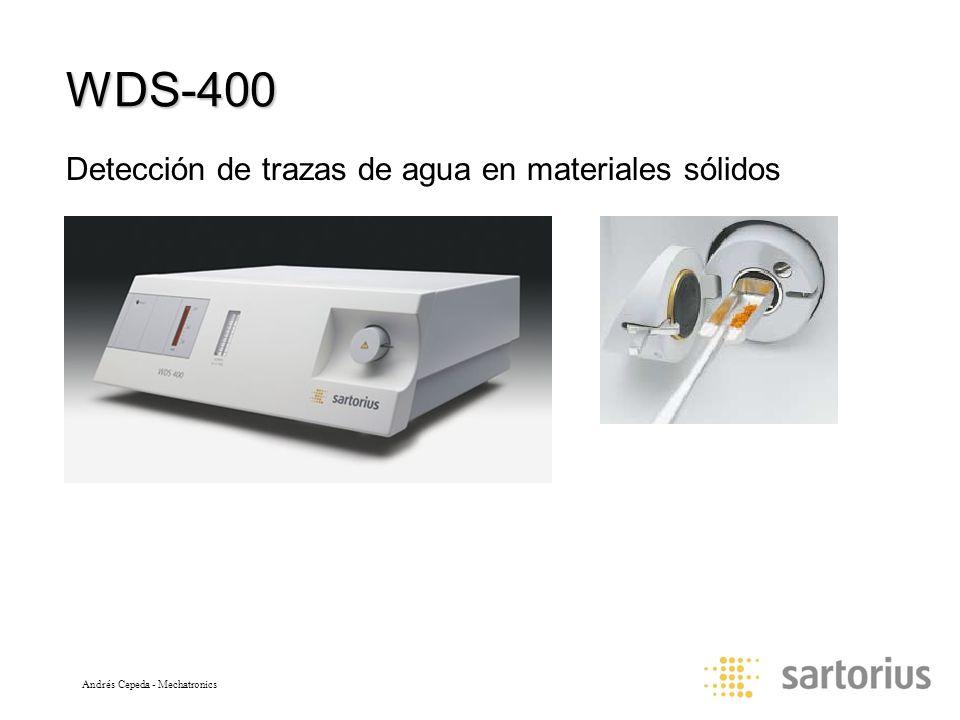 Andrés Cepeda - Mechatronics WDS-400 Detección de trazas de agua en materiales sólidos