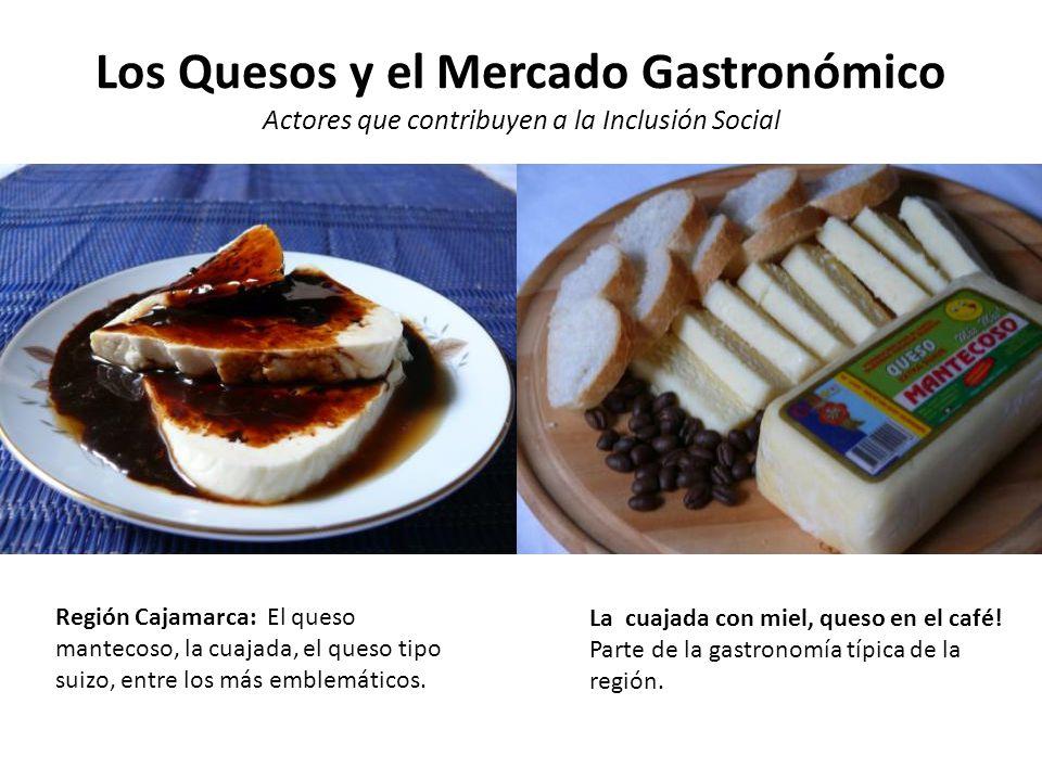 Los Quesos y el Mercado Gastronómico Actores que contribuyen a la Inclusión Social Región Puno: El queso Paria, tipo Paria y los quesos madurados.