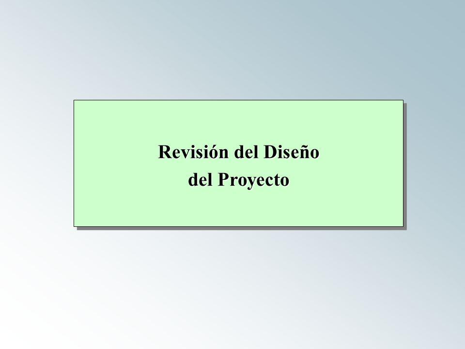 Revisión del Diseño del Proyecto Revisión del Diseño del Proyecto