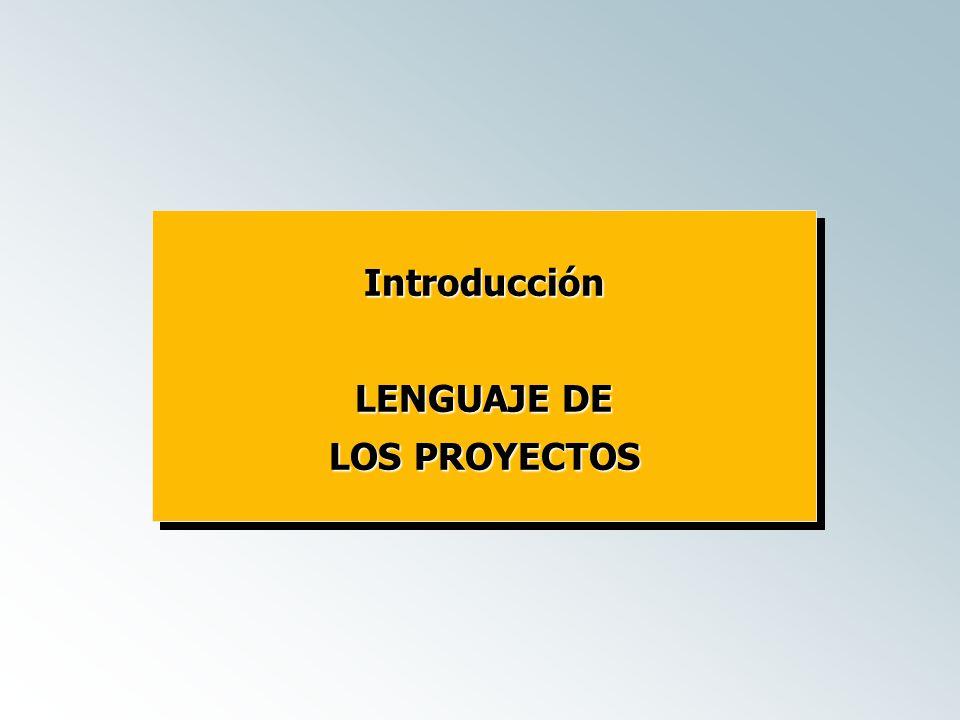 Introducción LENGUAJE DE LOS PROYECTOS Introducción LENGUAJE DE LOS PROYECTOS