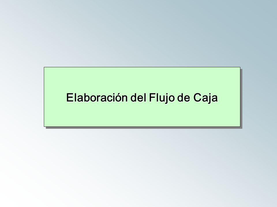 Elaboración del Flujo de Caja