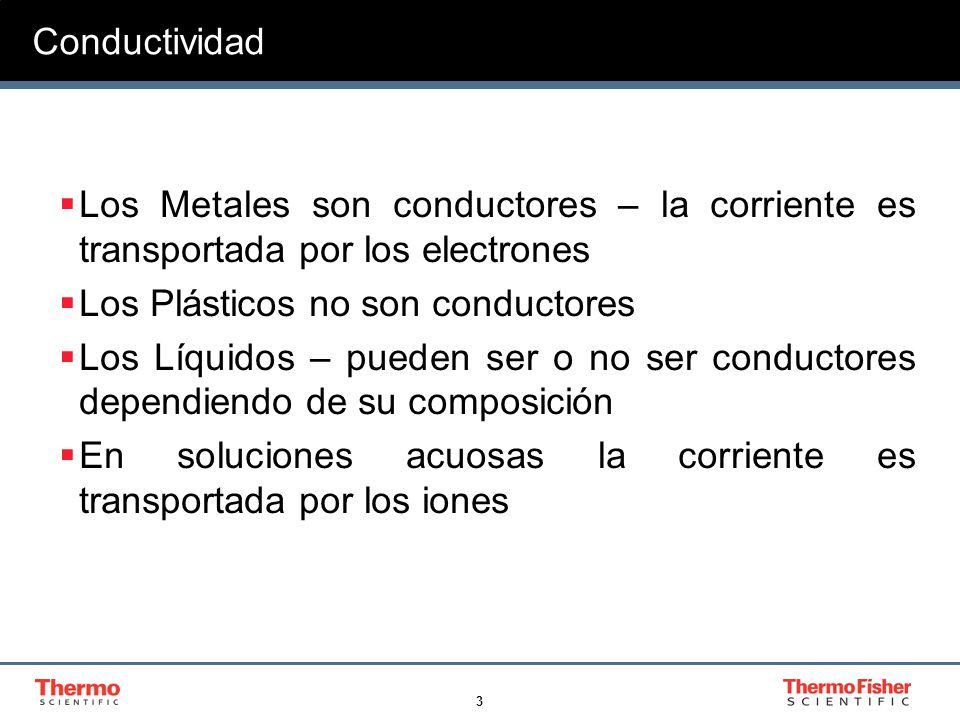 3 Los Metales son conductores – la corriente es transportada por los electrones Los Plásticos no son conductores Los Líquidos – pueden ser o no ser co