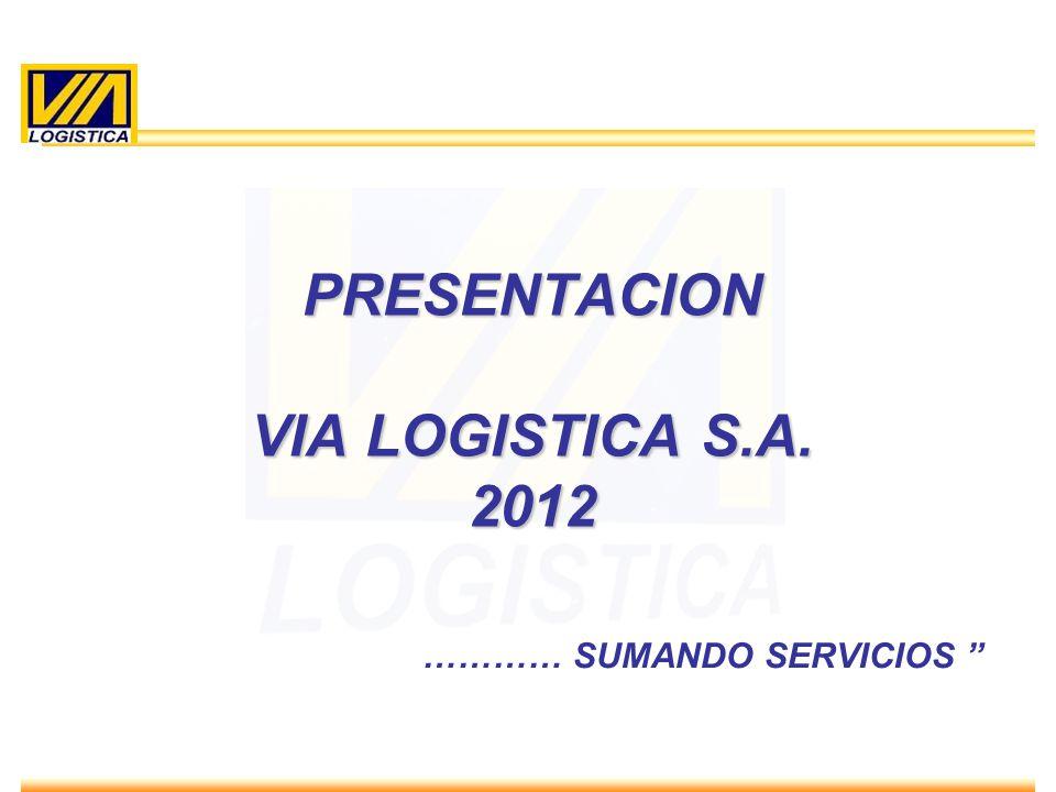 ENERO 2010 PRESENTACION VIA LOGISTICA S.A. 2012 ………… SUMANDO SERVICIOS