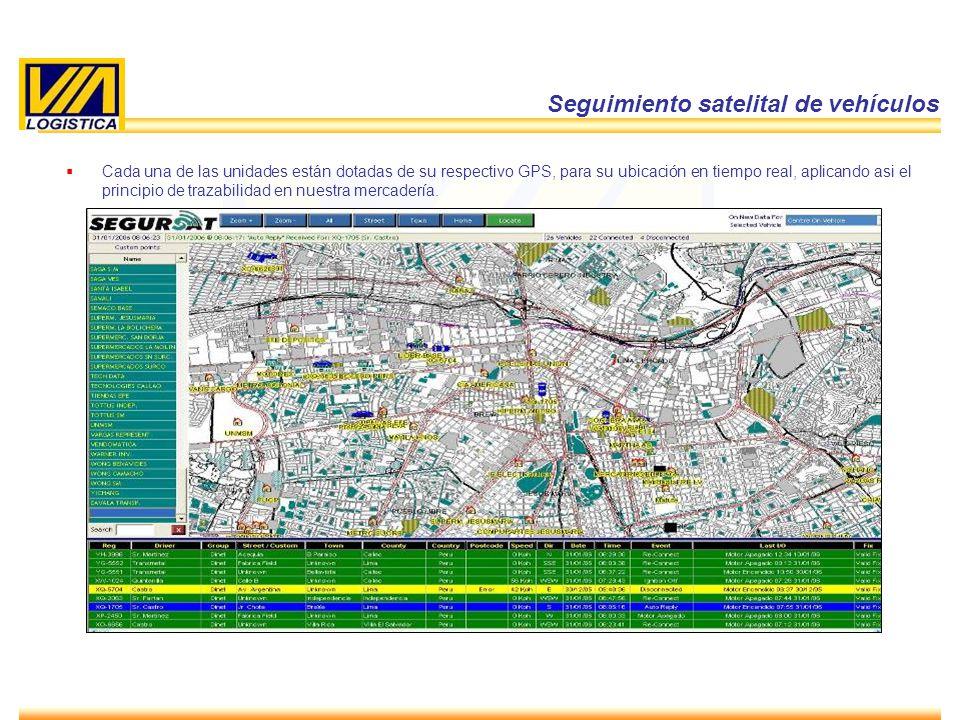 ENERO 2010 21 Cada una de las unidades están dotadas de su respectivo GPS, para su ubicación en tiempo real, aplicando asi el principio de trazabilida