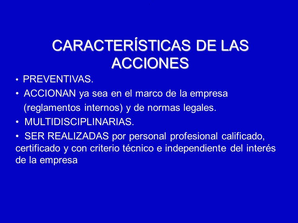 6/12/2014AUGUSTO V RAMIREZ, MD OH.. CARACTERÍSTICAS DE LAS ACCIONES PREVENTIVAS. ACCIONAN ya sea en el marco de la empresa (reglamentos internos) y de