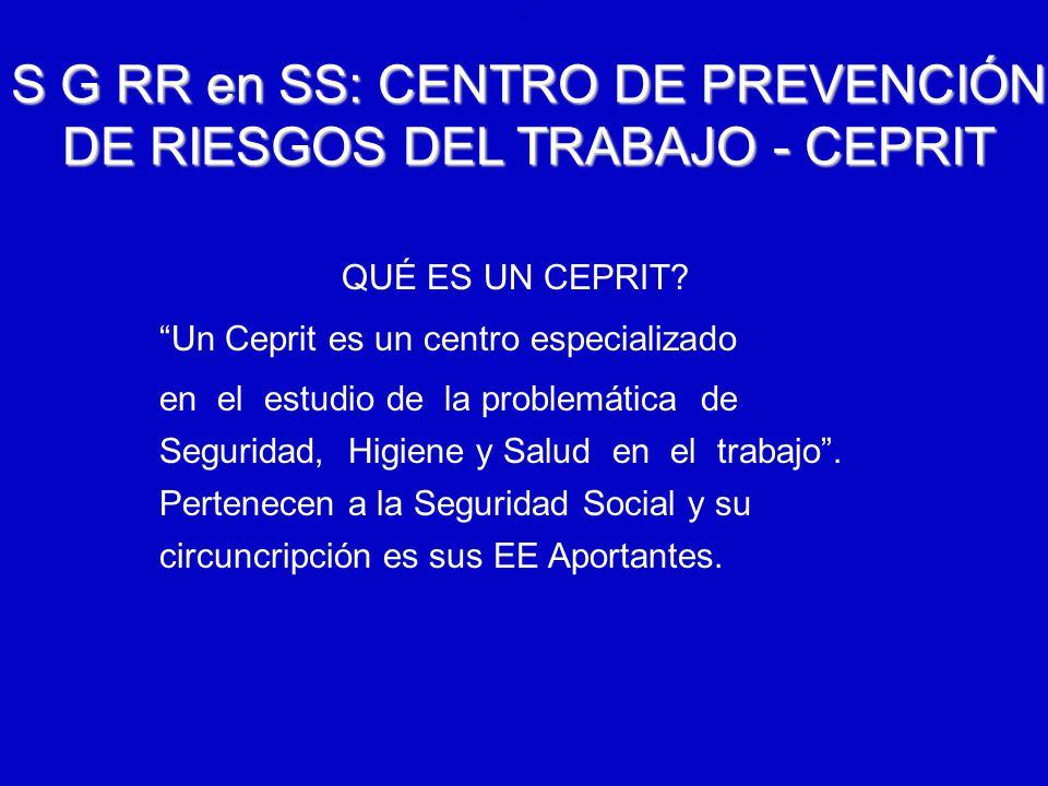 6/12/2014AUGUSTO V RAMIREZ, MD OH.. S G RR en SS: CENTRO DE PREVENCIÓN DE RIESGOS DEL TRABAJO - CEPRIT QUÉ ES UN CEPRIT? Un Ceprit es un centro especi