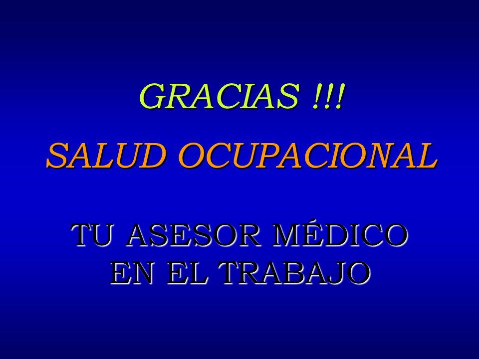 6/12/2014AUGUSTO V RAMIREZ, MD OH.. GRACIAS !!! SALUD OCUPACIONAL TU ASESOR MÉDICO EN EL TRABAJO