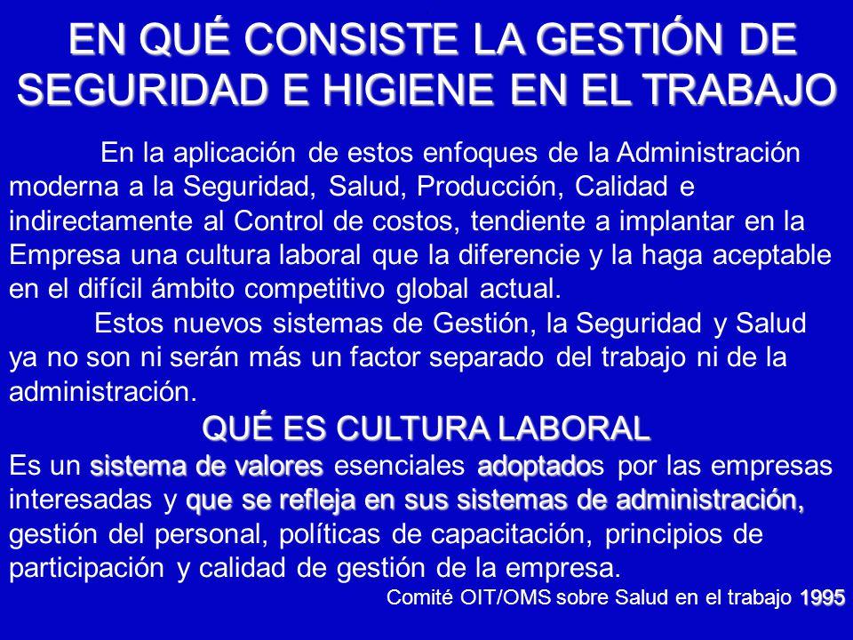 6/12/2014AUGUSTO V RAMIREZ, MD OH.. EN QUÉ CONSISTE LA GESTIÓN DE SEGURIDAD E HIGIENE EN EL TRABAJO En la aplicación de estos enfoques de la Administr