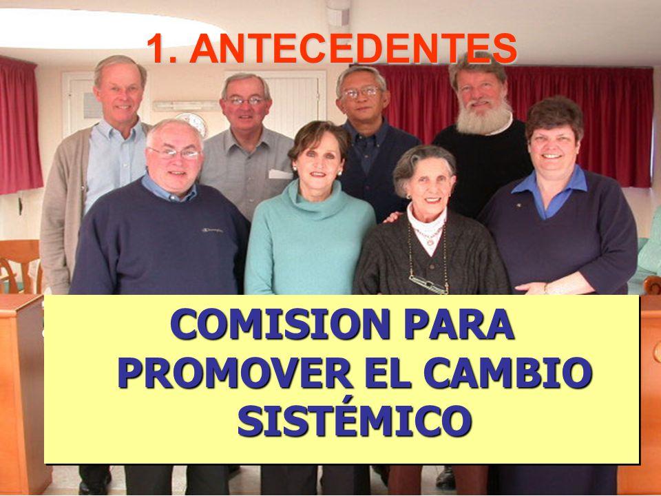 1. ANTECEDENTES Promover los cambios sistémicos a través de los apostolados al servicio de los pobres de los miembros de la Familia Vicentina.Promover