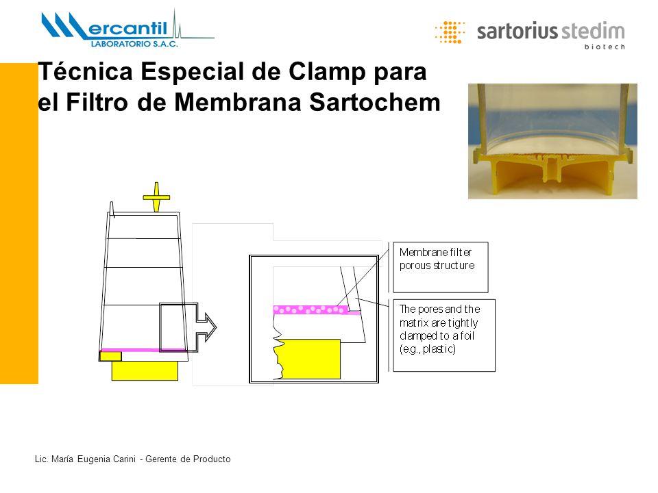 Lic. María Eugenia Carini - Gerente de Producto Técnica Especial de Clamp para el Filtro de Membrana Sartochem