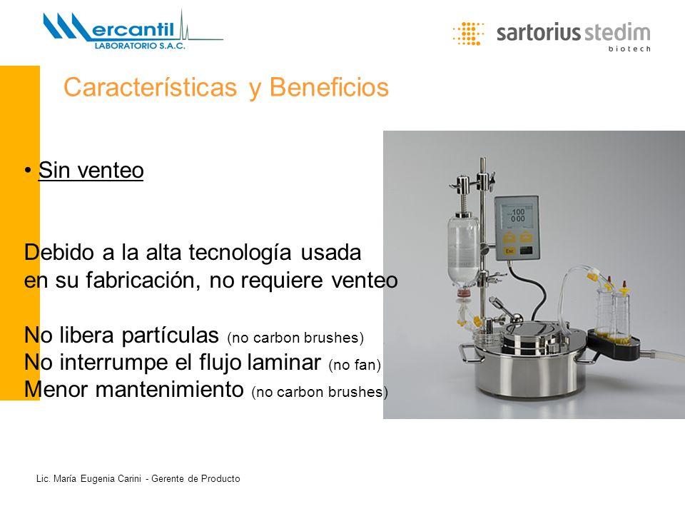 Lic. María Eugenia Carini - Gerente de Producto Sin venteo Debido a la alta tecnología usada en su fabricación, no requiere venteo No libera partícula