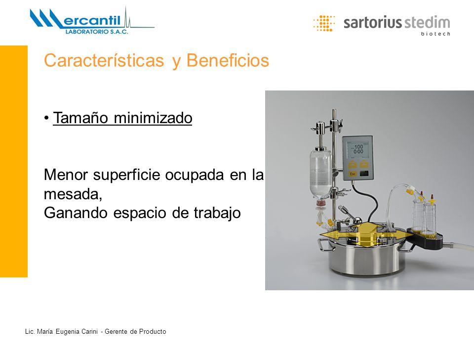 Lic. María Eugenia Carini - Gerente de Producto Tamaño minimizado Menor superficie ocupada en la mesada, Ganando espacio de trabajo Características y