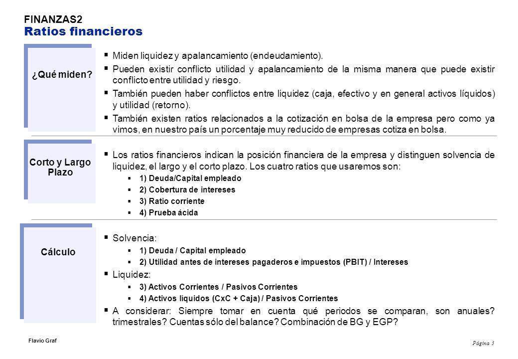 Página 4 Flavio Graf FINANZAS2 Ratios financieros: caso Fábrica de Chapas Seguras S.A.C.