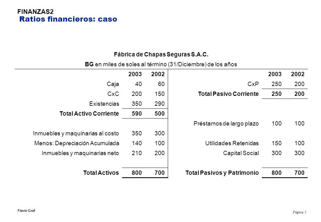 Página 16 Flavio Graf FINANZAS2 Otras operaciones Durante la 2da semana de Junio la empresa vende mercadería por USD12,000 al contado que costó USD10,000 y mercadería por USD6,000 al crédito que costó USD5,000.