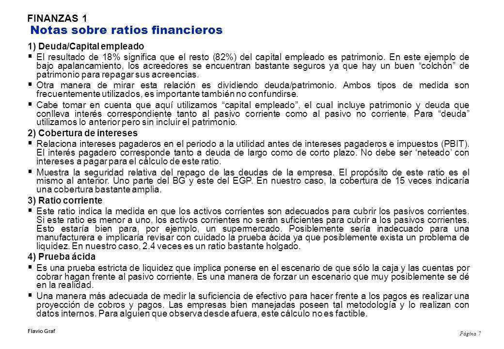 Página 8 Flavio Graf FINANZAS 1 Caso E.