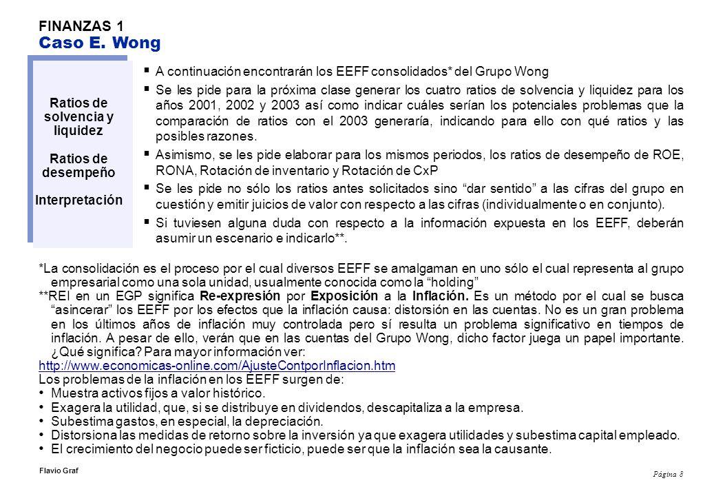 Página 19 Flavio Graf FINANZAS2 Definiciones Crédito: El lado derecho de la cuenta T.