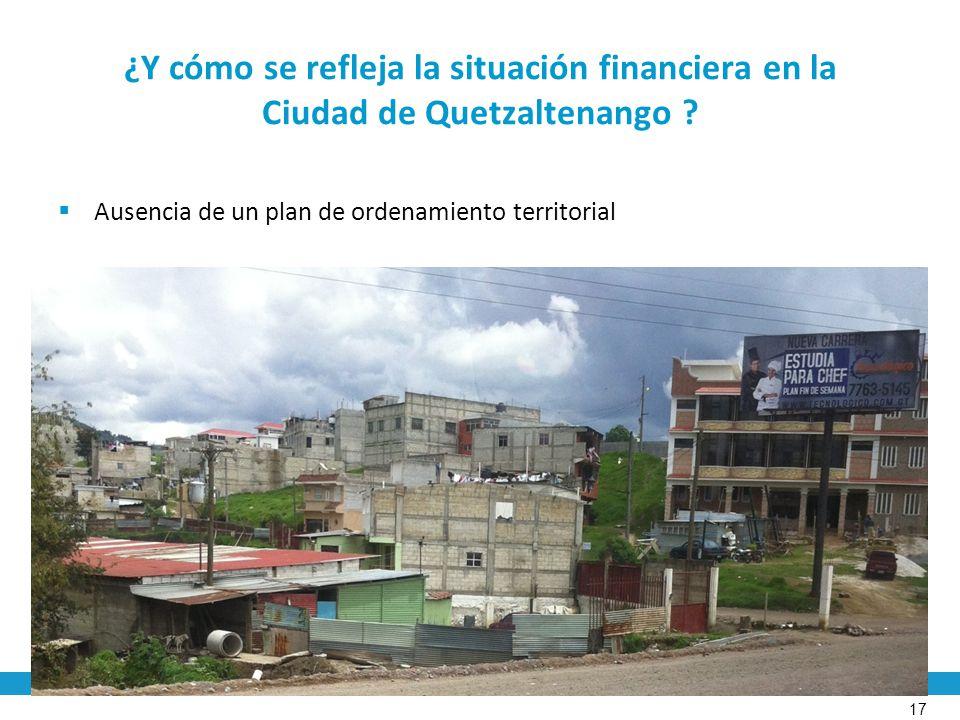 ¿Y cómo se refleja la situación financiera en la Ciudad de Quetzaltenango .