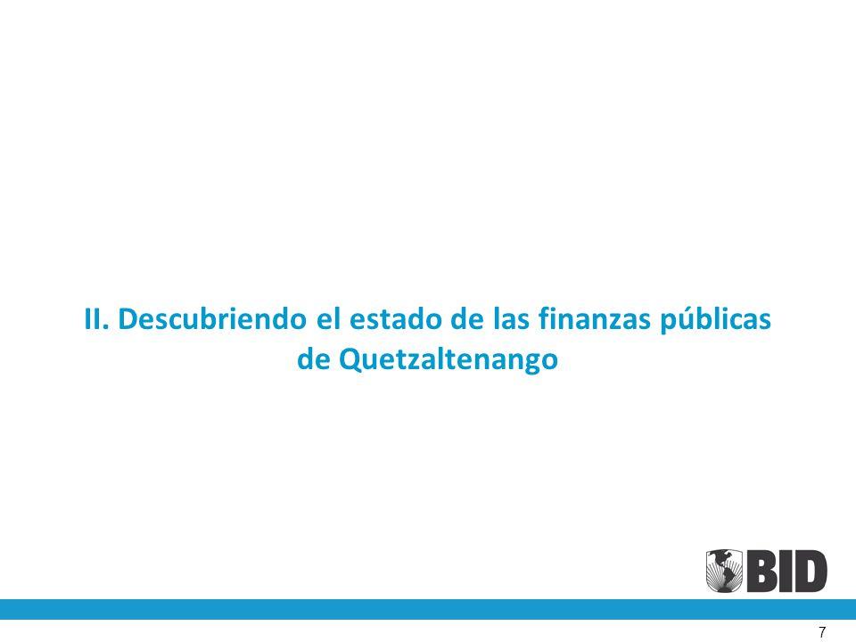 II. Descubriendo el estado de las finanzas públicas de Quetzaltenango 7