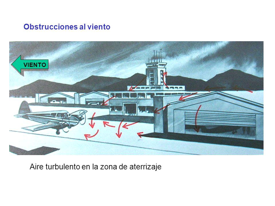 Obstrucciones al viento Aire turbulento en la zona de aterrizaje VIENTO