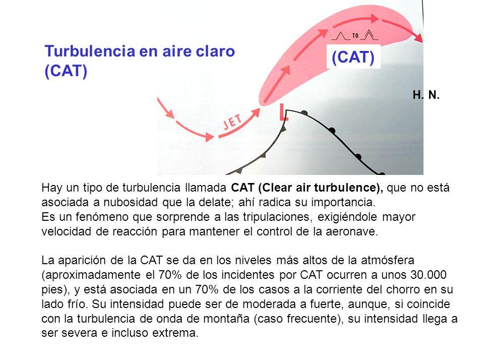 Hay un tipo de turbulencia llamada CAT (Clear air turbulence), que no está asociada a nubosidad que la delate; ahí radica su importancia. Es un fenóme