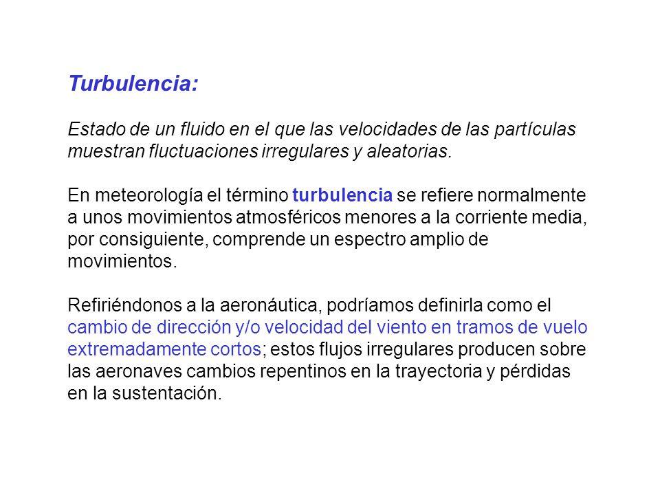 Turbulencia Mecánica: Debida a los rozamientos del aire con las irregularidades del terreno; predomina, por tanto, en las capas inferiores.