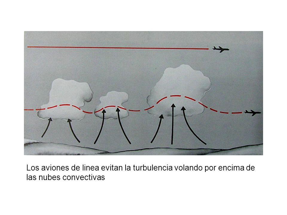 Los aviones de linea evitan la turbulencia volando por encima de las nubes convectivas