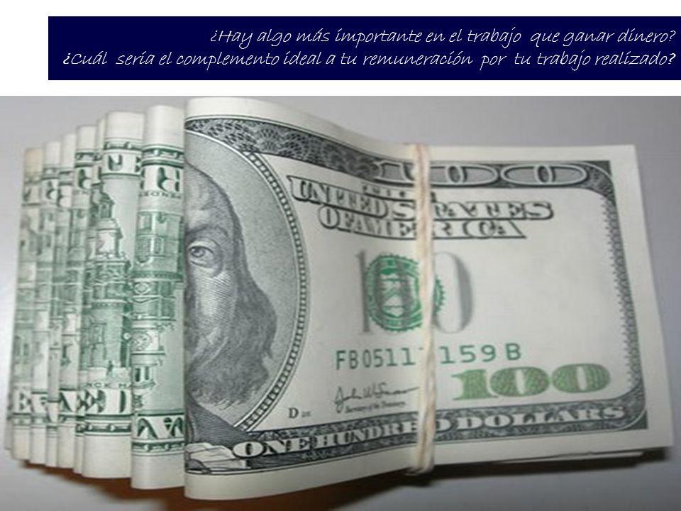 ¿Hay algo más importante en el trabajo que ganar dinero.