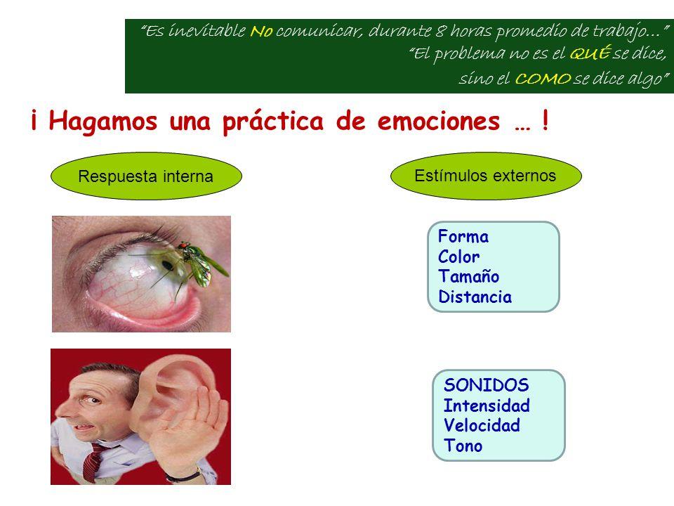 ¡ Hagamos una práctica de emociones … .