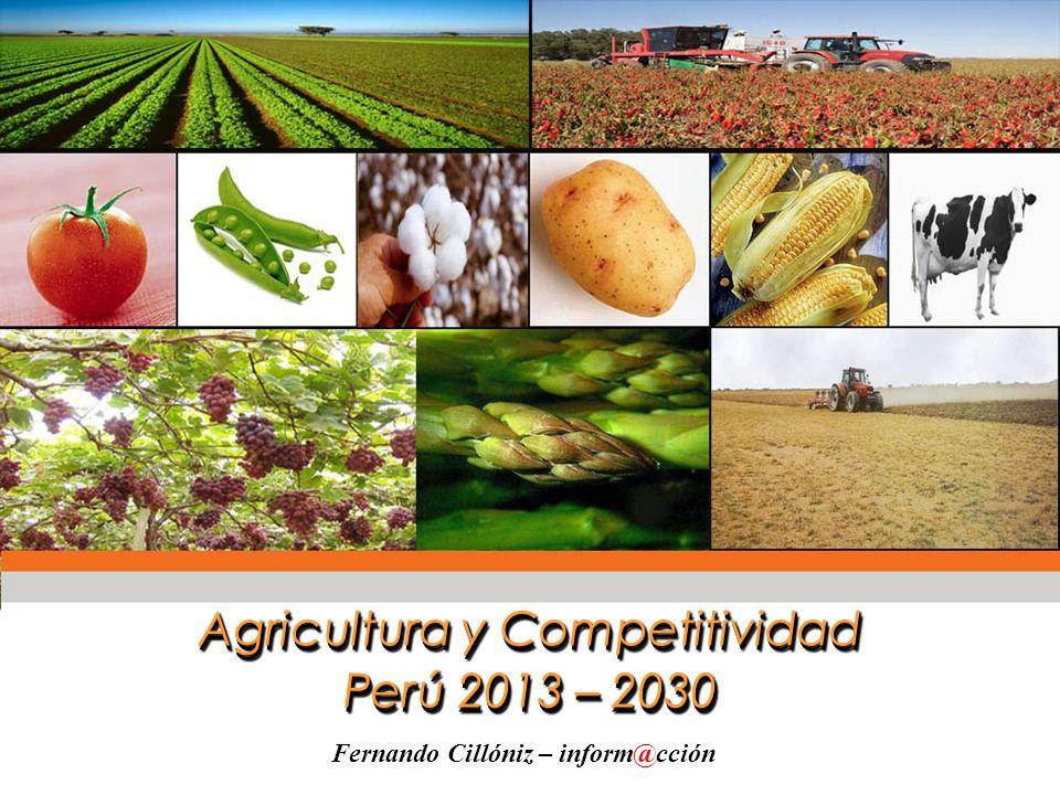 Agricultura y Competitividad Perú 2013 – 2030 Agricultura y Competitividad Perú 2013 – 2030 Fernando Cillóniz – inform@cción