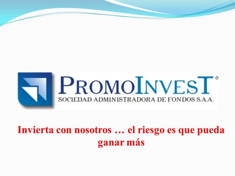 PromoInvest es una Sociedad Administradora de Fondos constituida el 16 de julio de 1970.