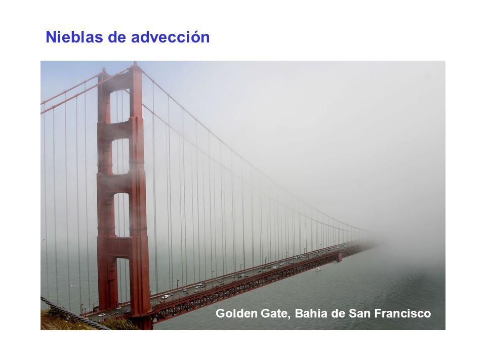 Nieblas de advección Golden Gate, Bahia de San Francisco