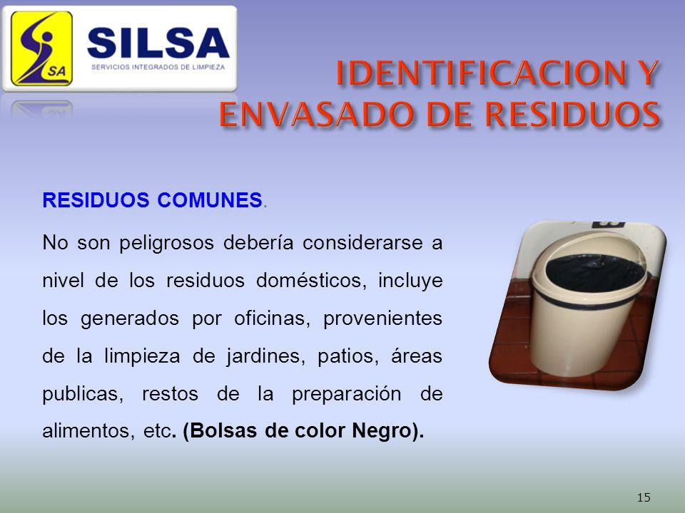 RESIDUOS COMUNES.