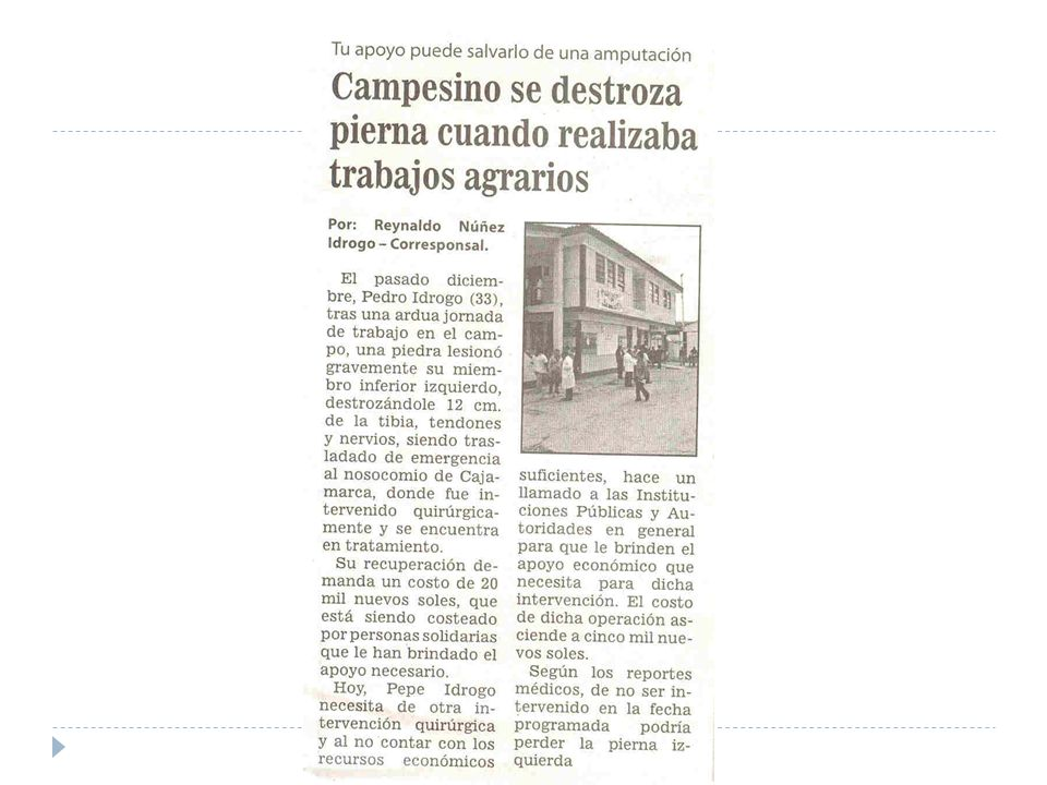 Limitaciones para el control de riesgos en empresas informales Carencia de seguros de protección al trabajador informal.