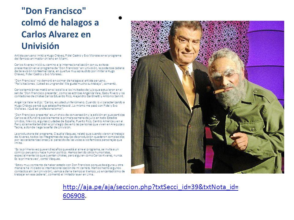 Olivera se encuentra después de mucho tiempo con su clon Popi Carlos Álvarez se reencontró después de muchos años con su clon Popi y grabó la divertida secuencia El espejo de la verdad.