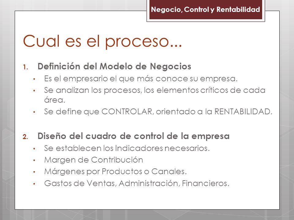 1. Definición del Modelo de Negocios Es el empresario el que más conoce su empresa. Se analizan los procesos, los elementos críticos de cada área. Se