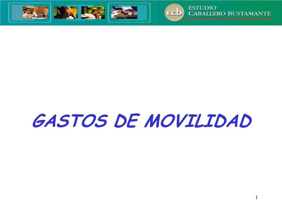 1 GASTOS DE MOVILIDAD