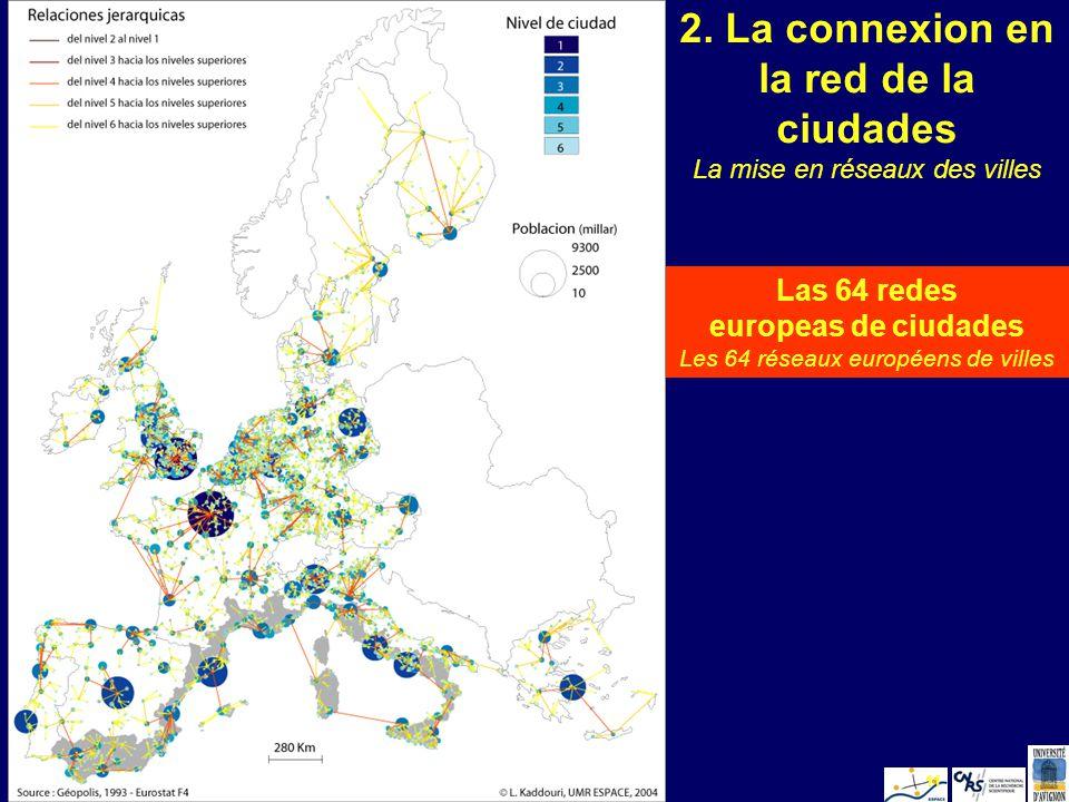 L. KaddouriValencia 200511 2. La connexion en la red de la ciudades Las 64 redes europeas de ciudades Les 64 réseaux européens de villes La mise en ré