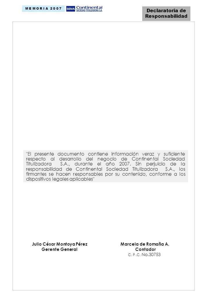 Declaratoria de Responsabilidad Julio César Montoya Pérez Marcela de Romaña A.