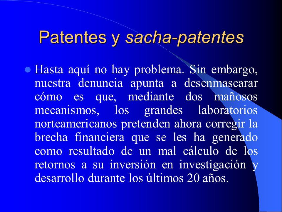 Patentes y sacha-patentes Hasta aquí no hay problema.