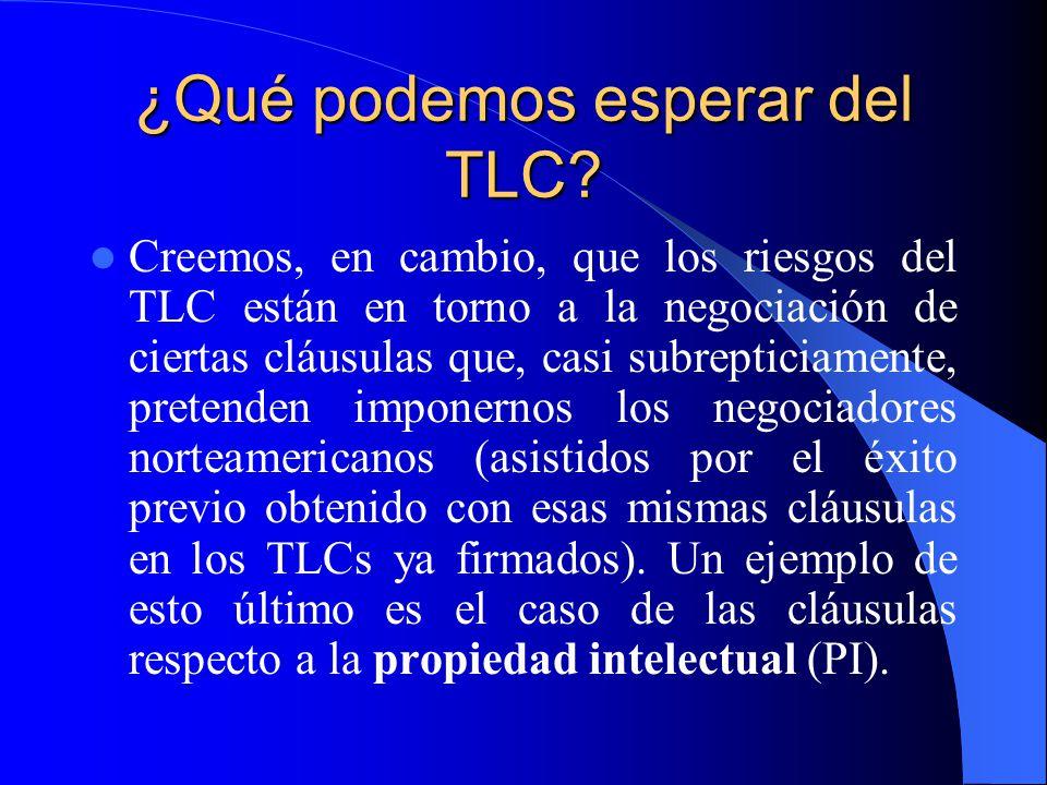 ¿Qué podemos esperar del TLC.
