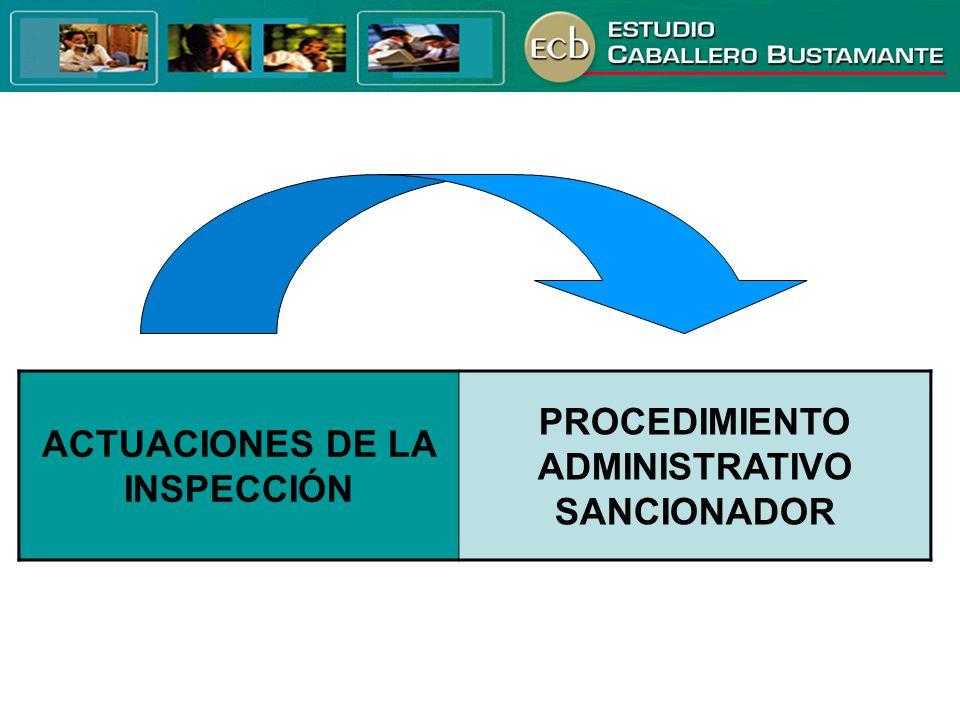 ACTUACIONES DE LA INSPECCIÓN PROCEDIMIENTO ADMINISTRATIVO SANCIONADOR