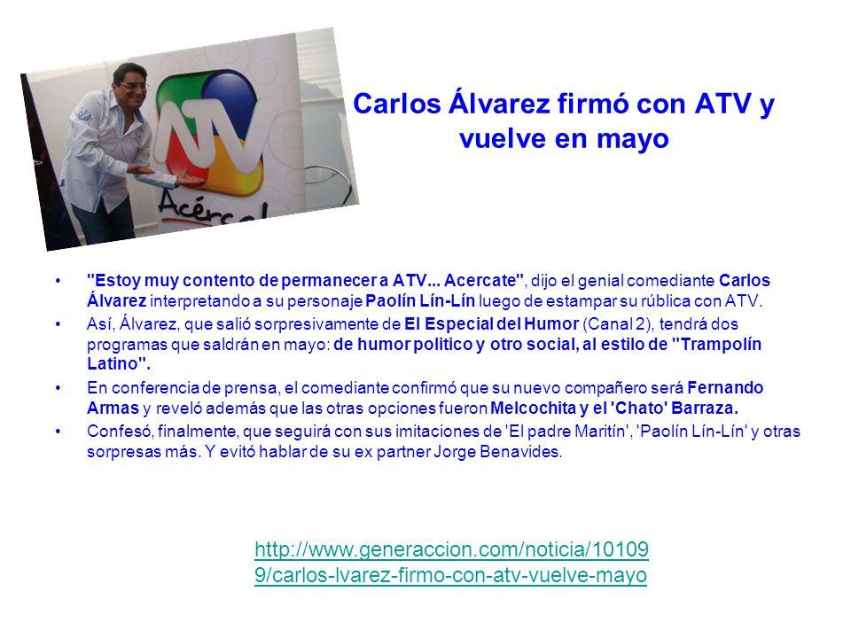 Carlos Álvarez firmó con ATV y vuelve en mayo Estoy muy contento de permanecer a ATV...