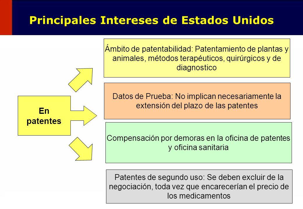 39 En patentes Ámbito de patentabilidad: Patentamiento de plantas y animales, métodos terapéuticos, quirúrgicos y de diagnostico Datos de Prueba: No i