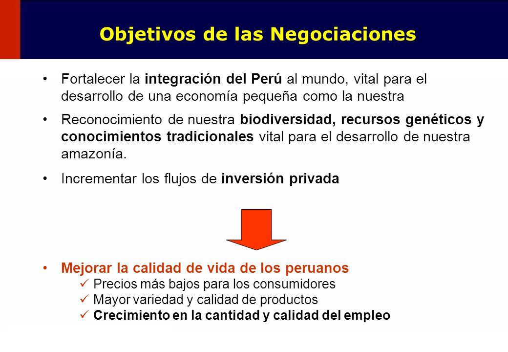 5 Fortalecer la integración del Perú al mundo, vital para el desarrollo de una economía pequeña como la nuestra Reconocimiento de nuestra biodiversida