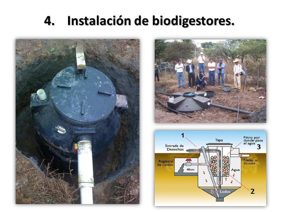 4.Instalación de biodigestores.