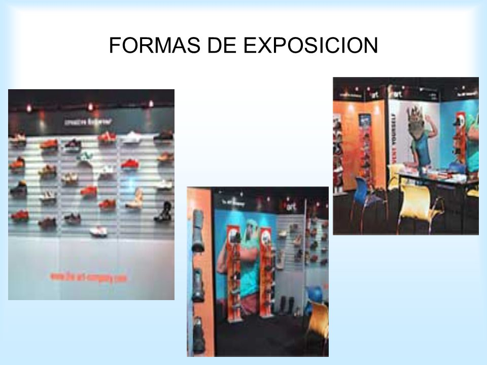FORMAS DE EXPOSICION