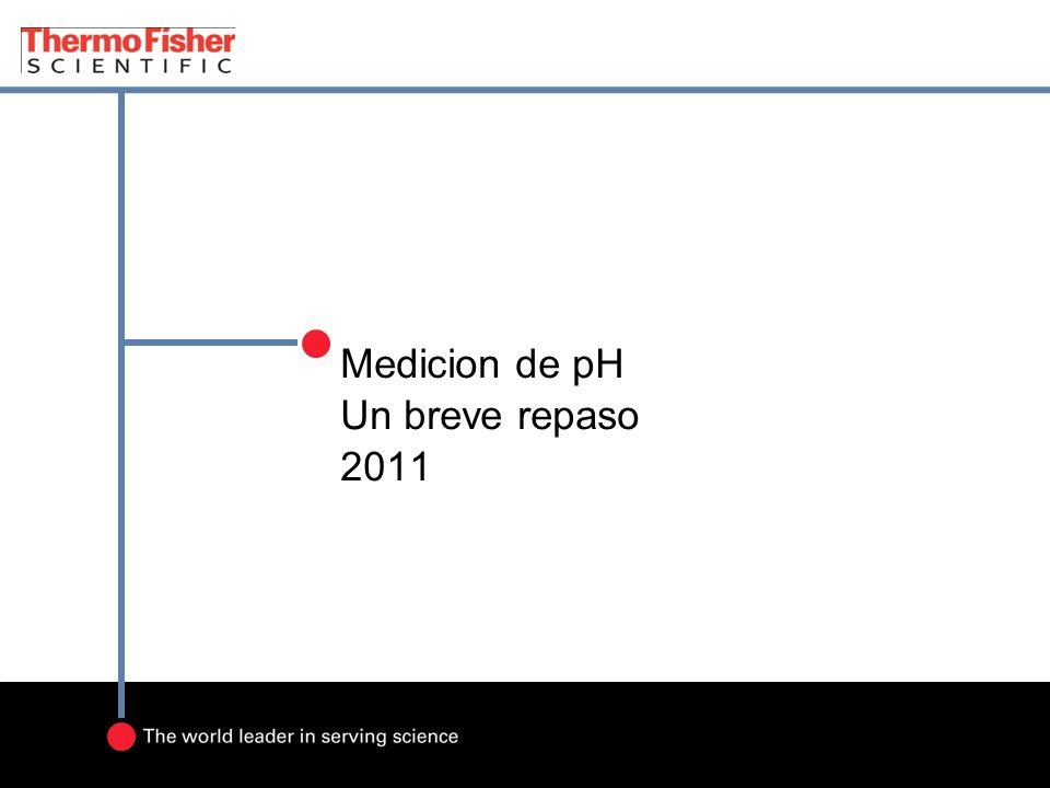 Medicion de pH Un breve repaso 2011